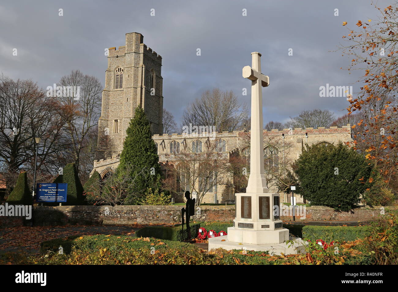 St Gregory's Church, Gregory Street, Sudbury, Babergh district, Suffolk, East Anglia, England, Great Britain, United Kingdom, UK, Europe - Stock Image