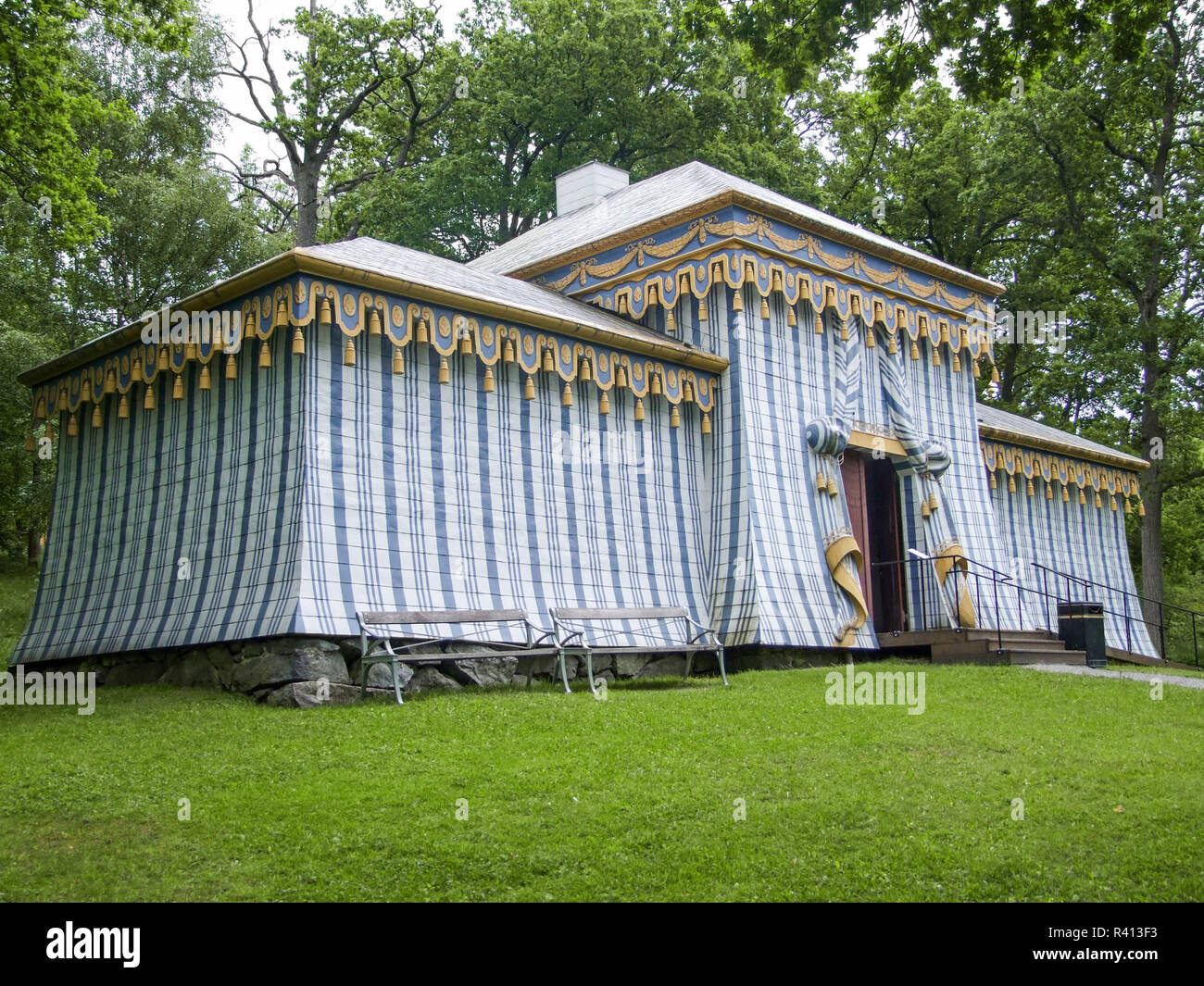 tent in drottningholm palace Stock Photo