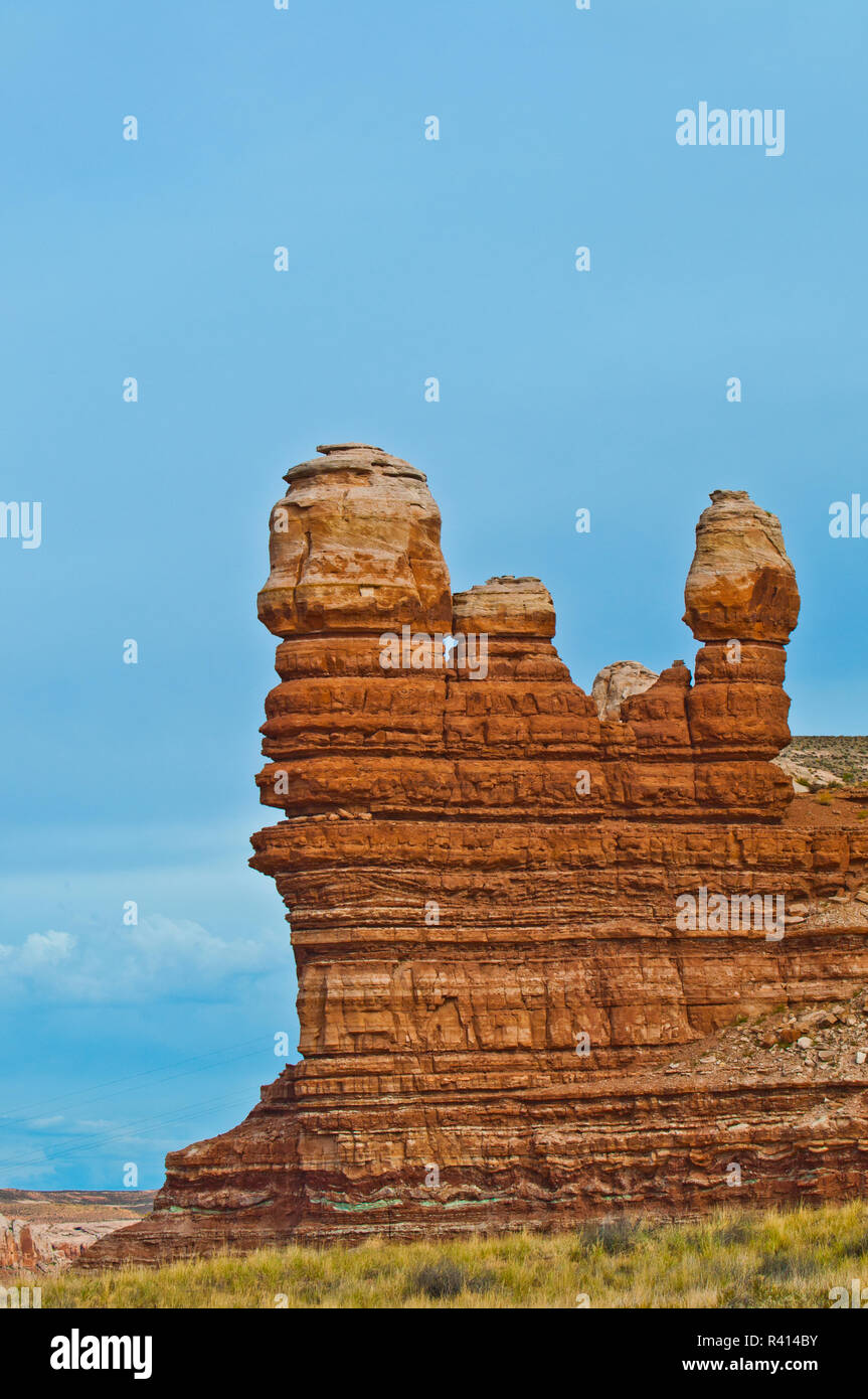 USA, Utah, Bluff, Red Rock Towers - Stock Image