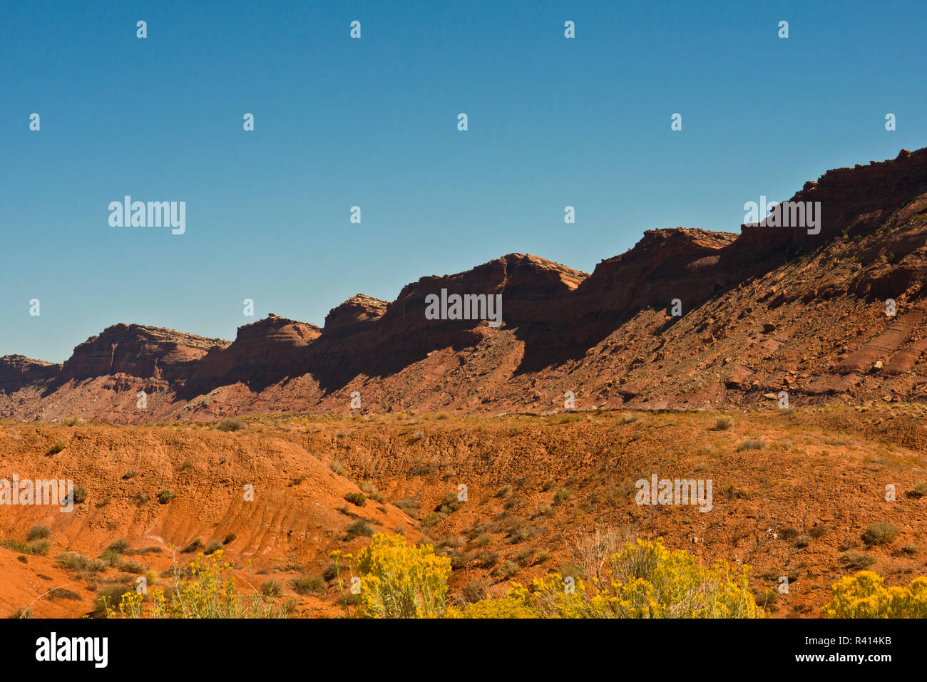 USA, Utah. Blanding, The Comb, West Side - Stock Image