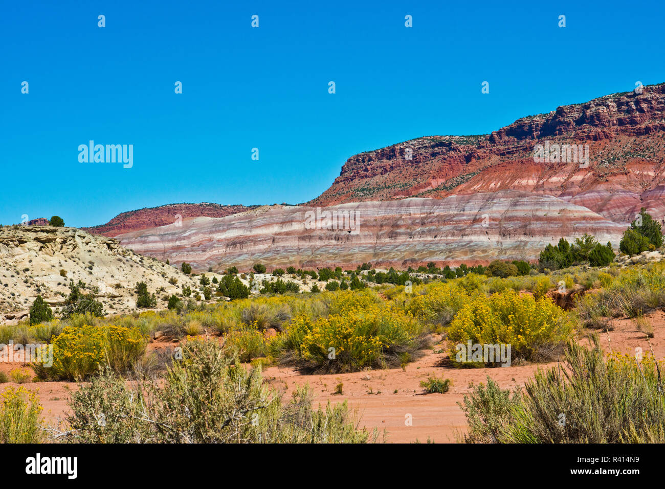 USA, Utah. Paria views along trail to Ghost Town - Stock Image
