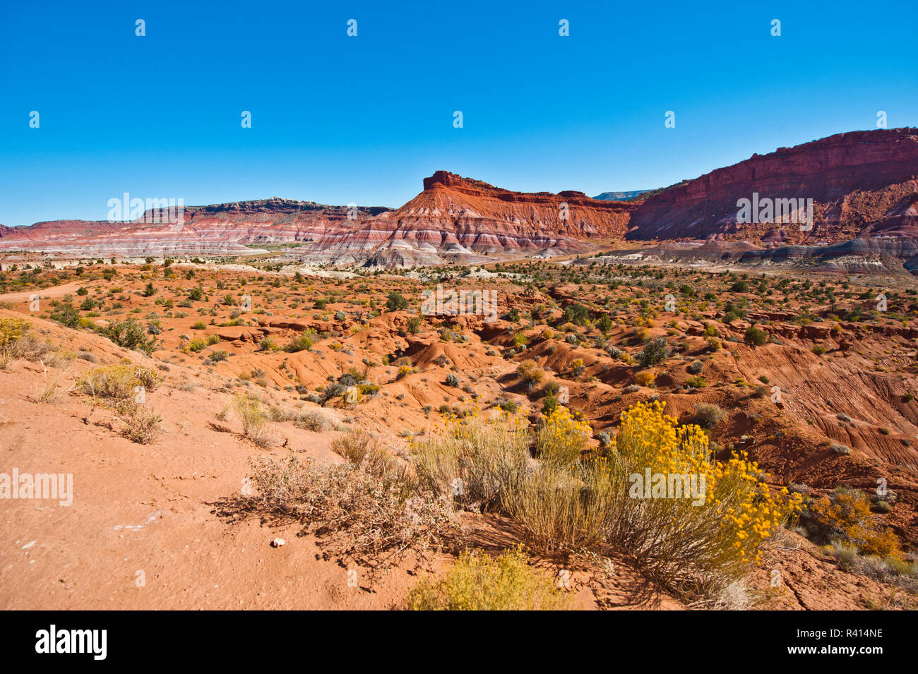 USA, Utah. Paria, Views along trail to Ghost Town - Stock Image