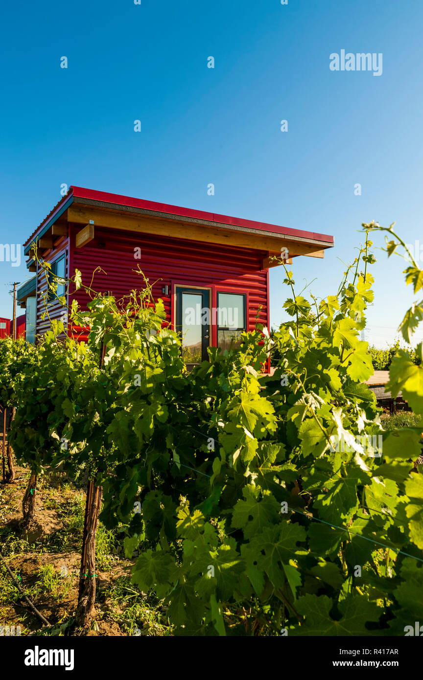 USA, Washington State, Horse Heaven Hills  Tiny House Glamping at