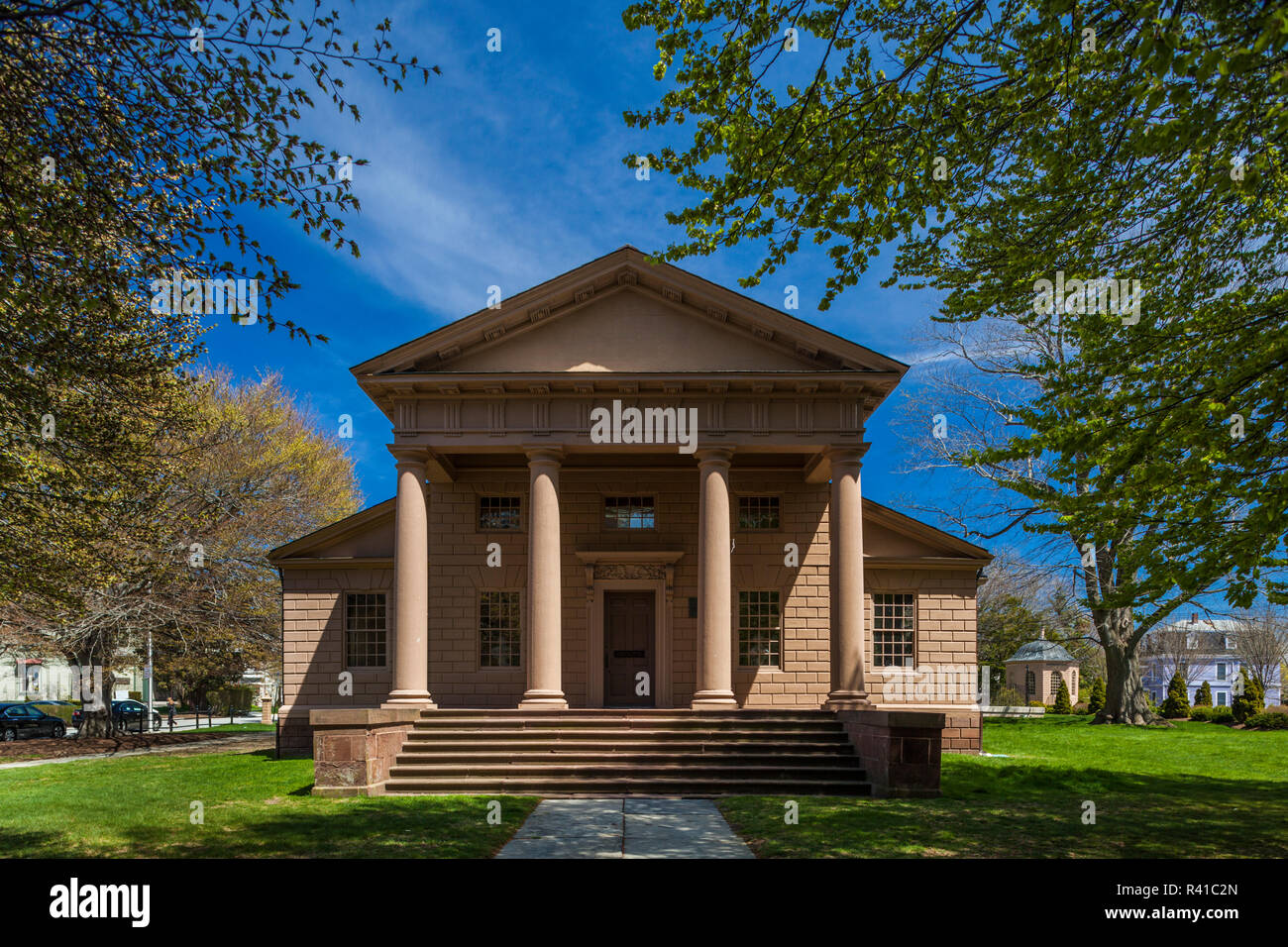 Usa Rhode Island Newport Redwood Library And Athenaeum Stock