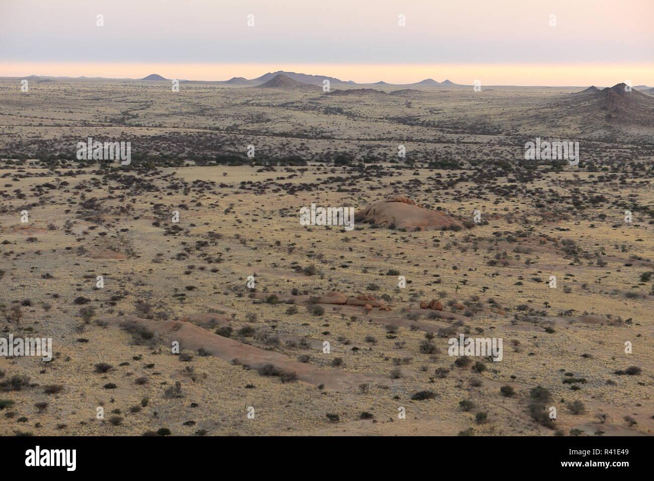 the savanna in namibia Stock Photo