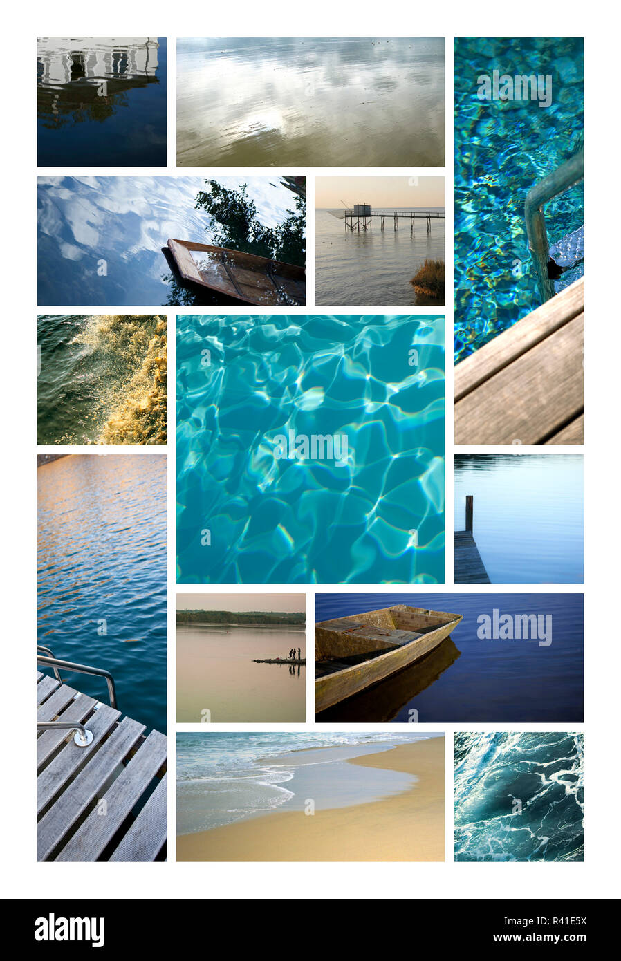 Water, ocean and rivers - Stock Image