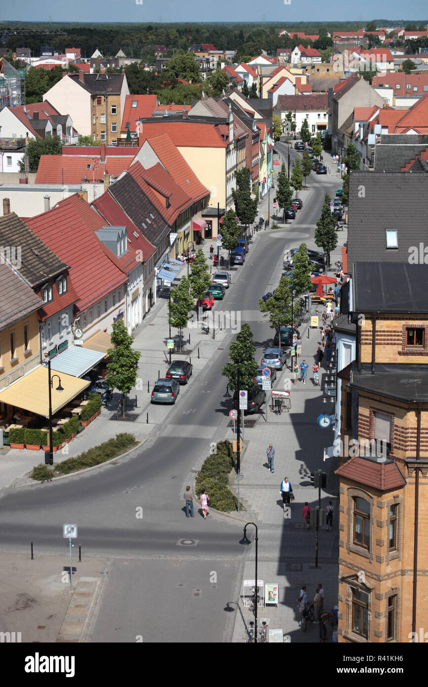 view from the wide tower over delitzsch Stock Photo