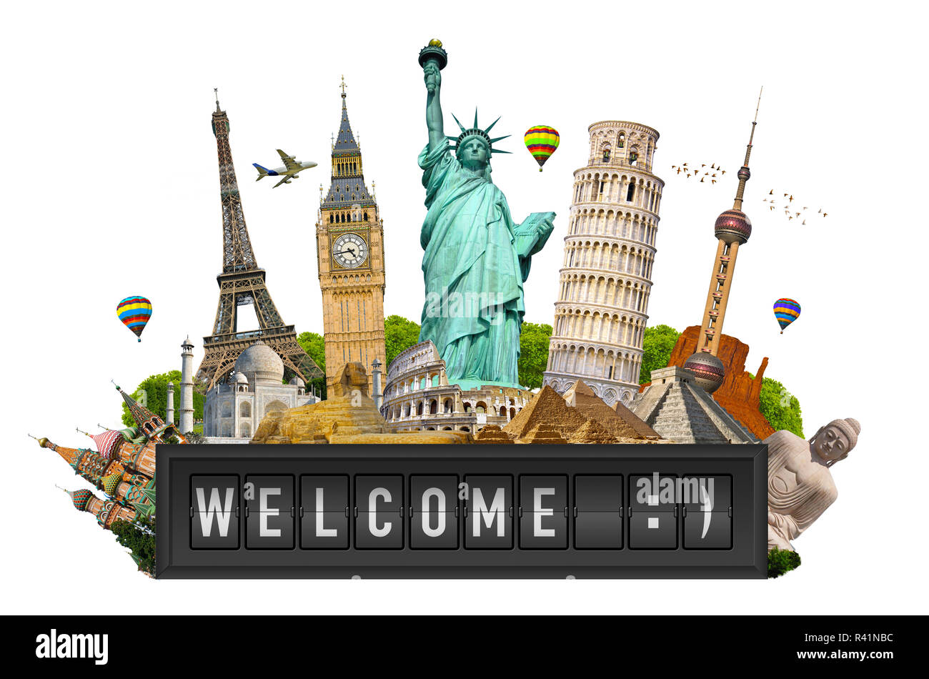Famous monuments of the world - Stock Image