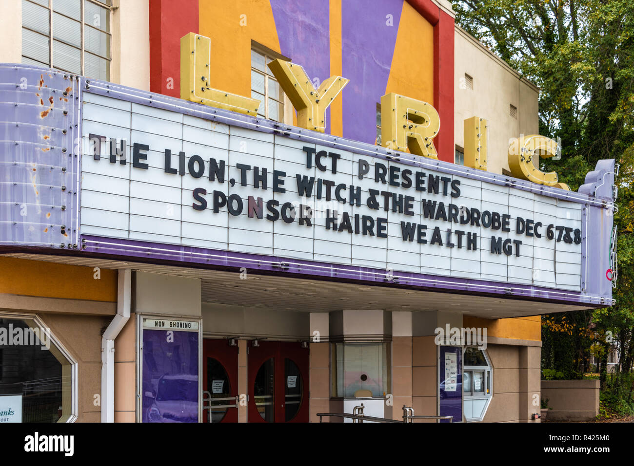 The Lyric Theatre in Tupelo, Mississippi. (USA) - Stock Image