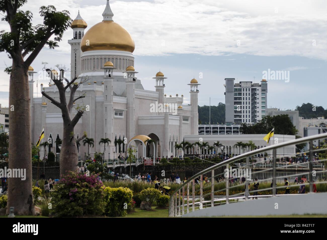 Brunei Darussalam SOAS Mosque - Stock Image