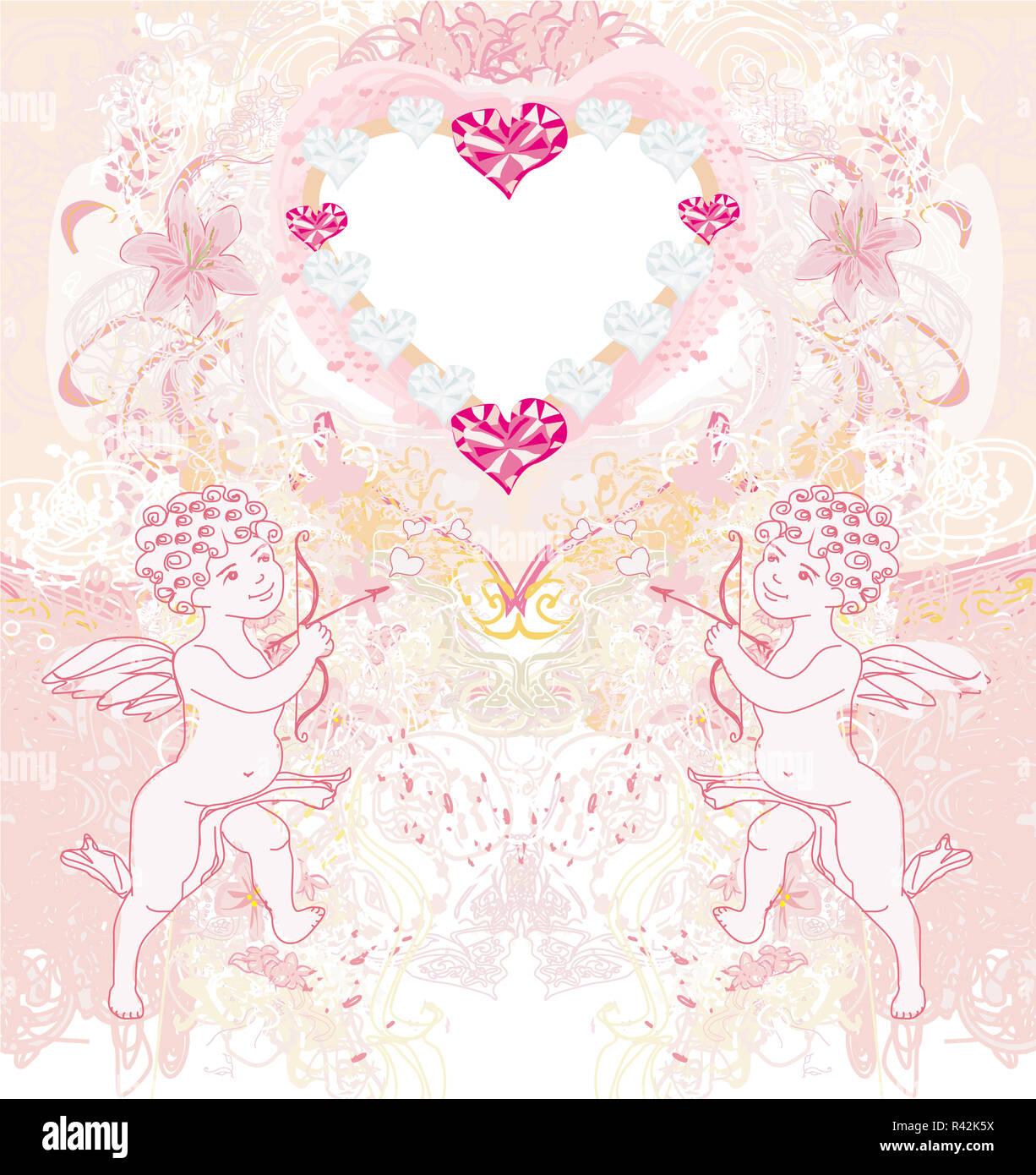 HEARTS ROSES FRIDGE MAGNET FROM VINTAGE POSTCARD CUPIDS VALENTINES