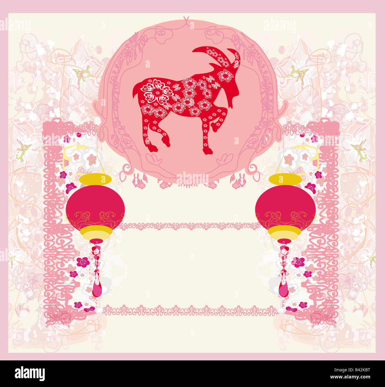 year of the goat, Chinese Mid Autumn festival - Stock Image