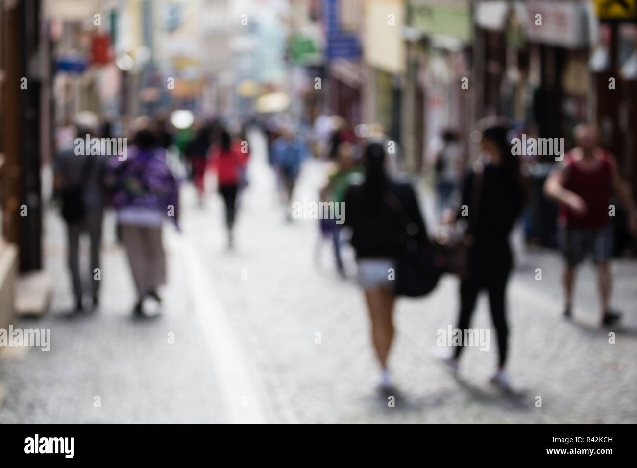 Small shopping street - Stock Image