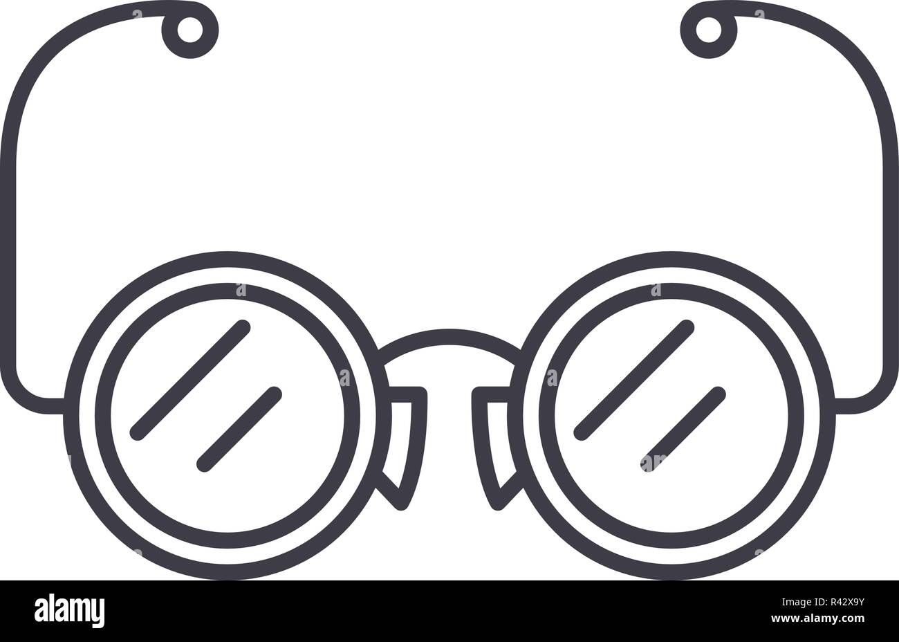 1293e92031ed Eyeglasses line icon concept. Eyeglasses vector linear illustration ...