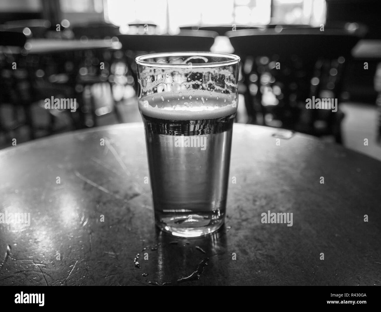 Black and white Ale beer - Stock Image