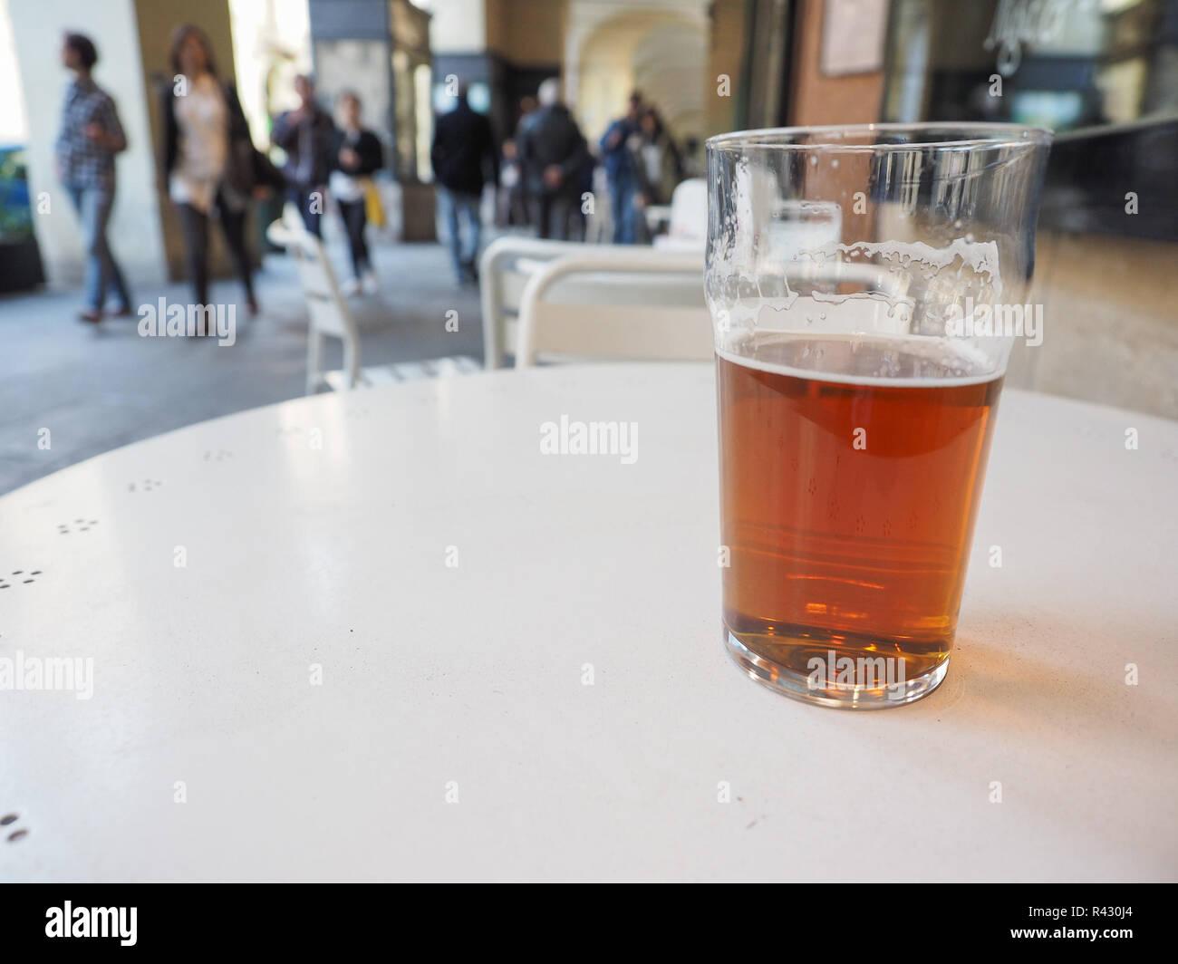 British ale beer pint - Stock Image