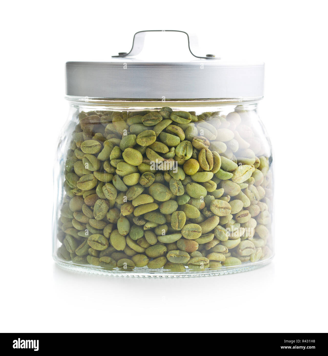 Green Coffee Beans In Jar Stock Photo 226260532 Alamy