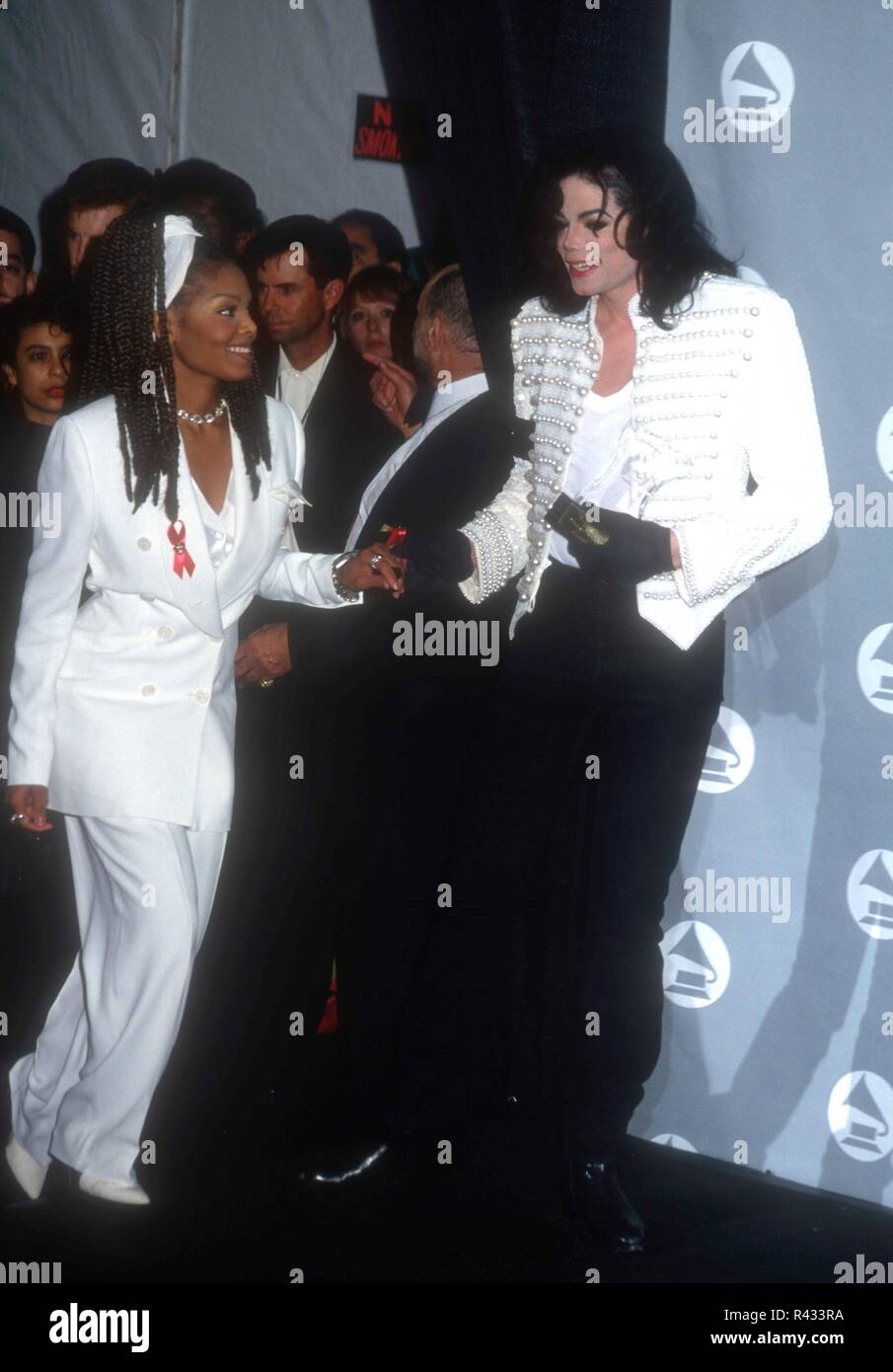 los angeles ca february 24 singer janet jackson and brother singer michael jackson attend the 35th annual grammy awards on february 24 1993 at the shrine auditorium in los angeles california https www alamy com los angeles ca february 24 singer janet jackson and brother singer michael jackson attend the 35th annual grammy awards on february 24 1993 at the shrine auditorium in los angeles california photo by barry kingalamy stock photo image226262270 html