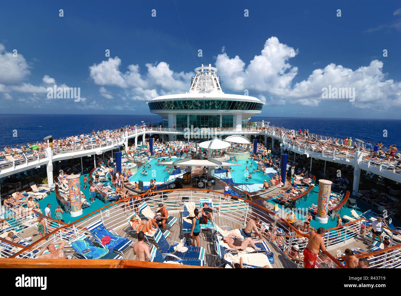 The Pool Deck On Royal Caribbean S Adventure Of The Seas