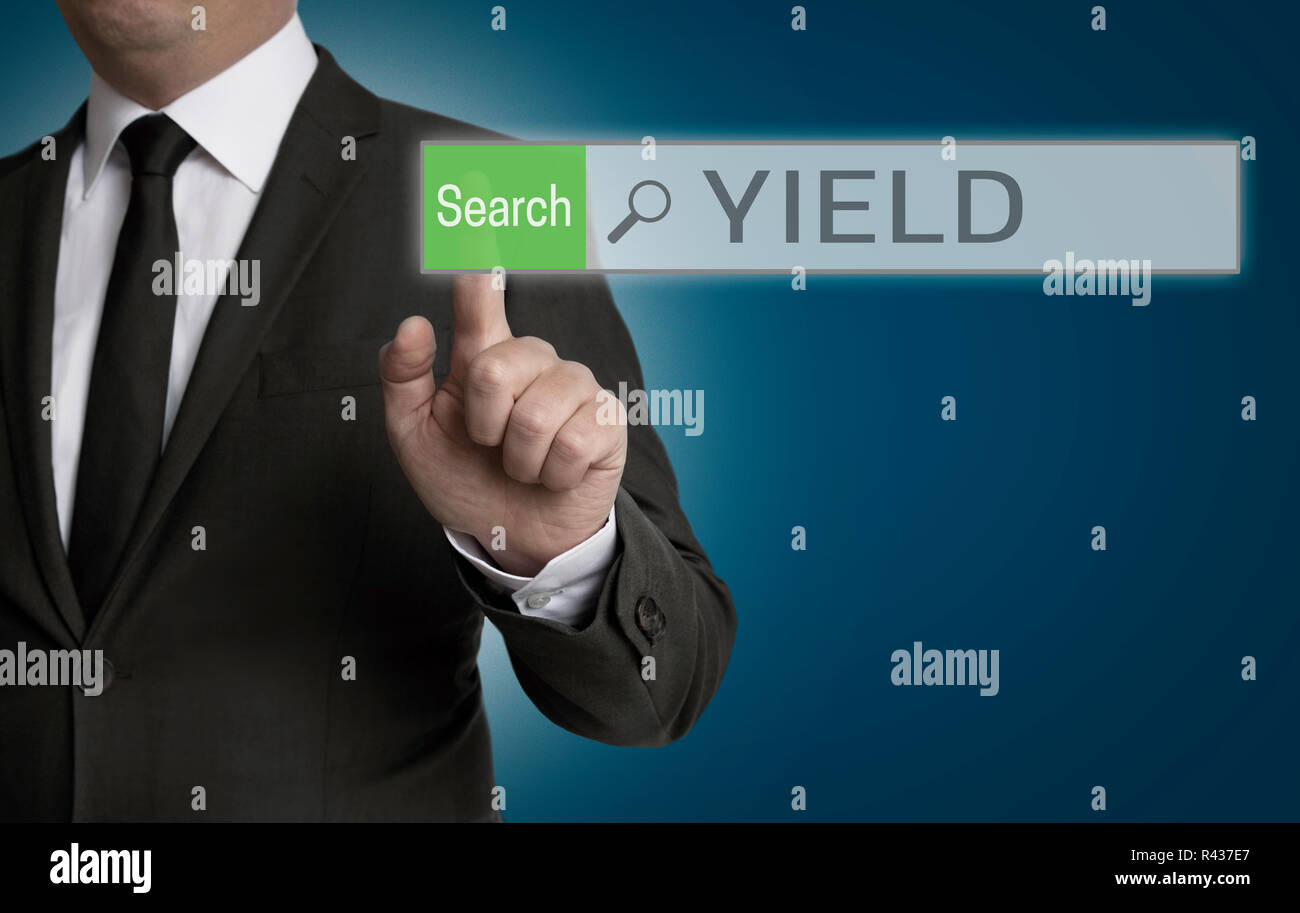 yield browser is served by businessman concept - Stock Image