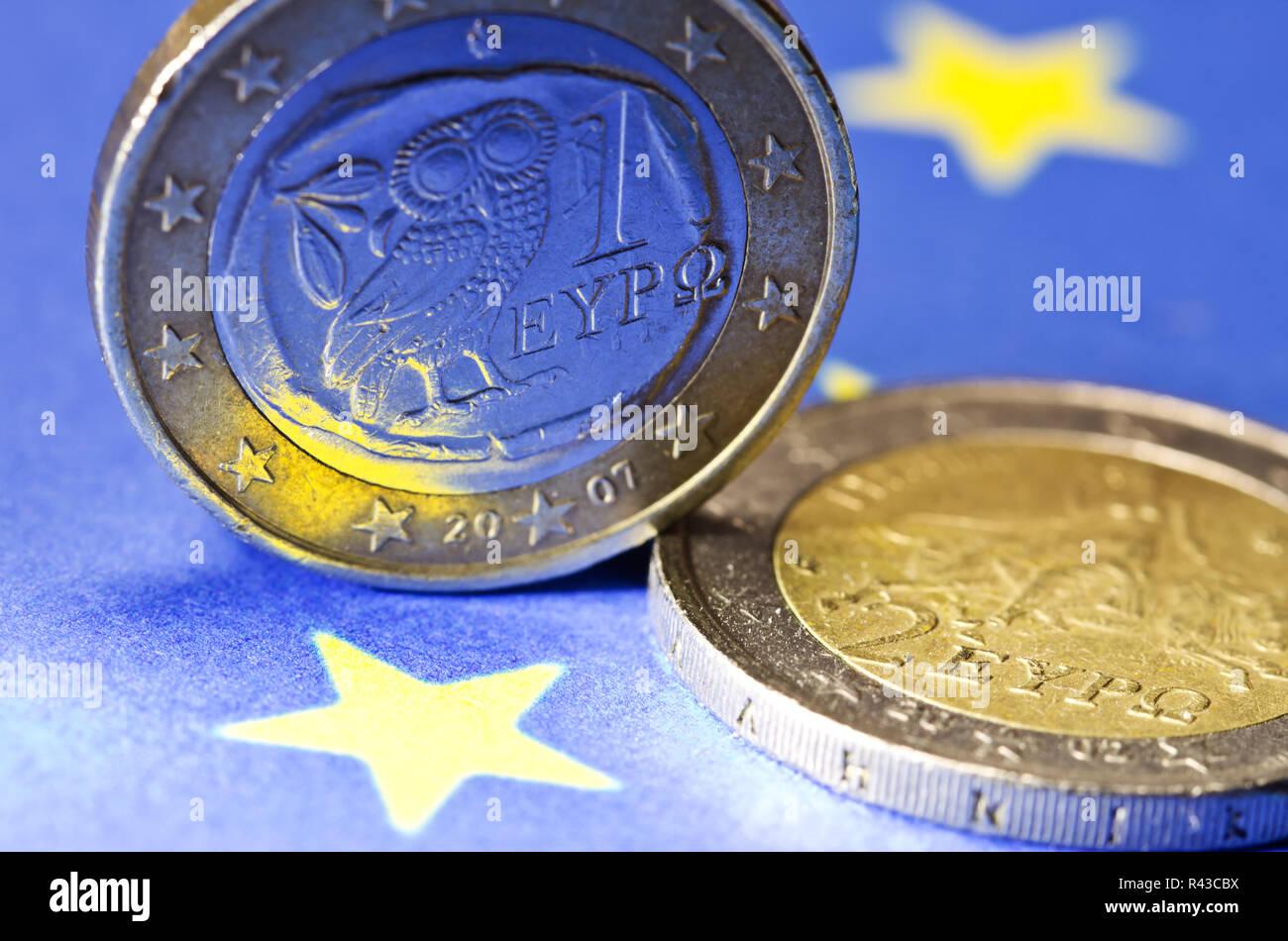 euro greece - Stock Image