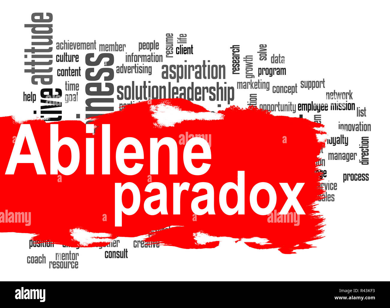 Abilene Paradox word cloud with red banner Stock Photo
