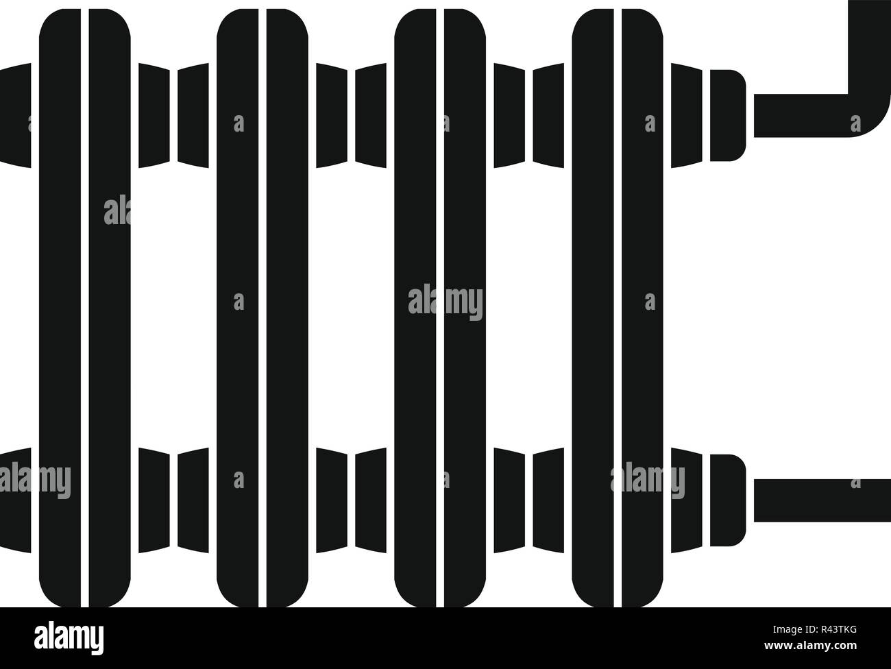 Old Home Radiator Icon Simple Illustration Of Old Home Radiator Vector Icon For Web Design Isolated On White Background Stock Vector Image Art Alamy