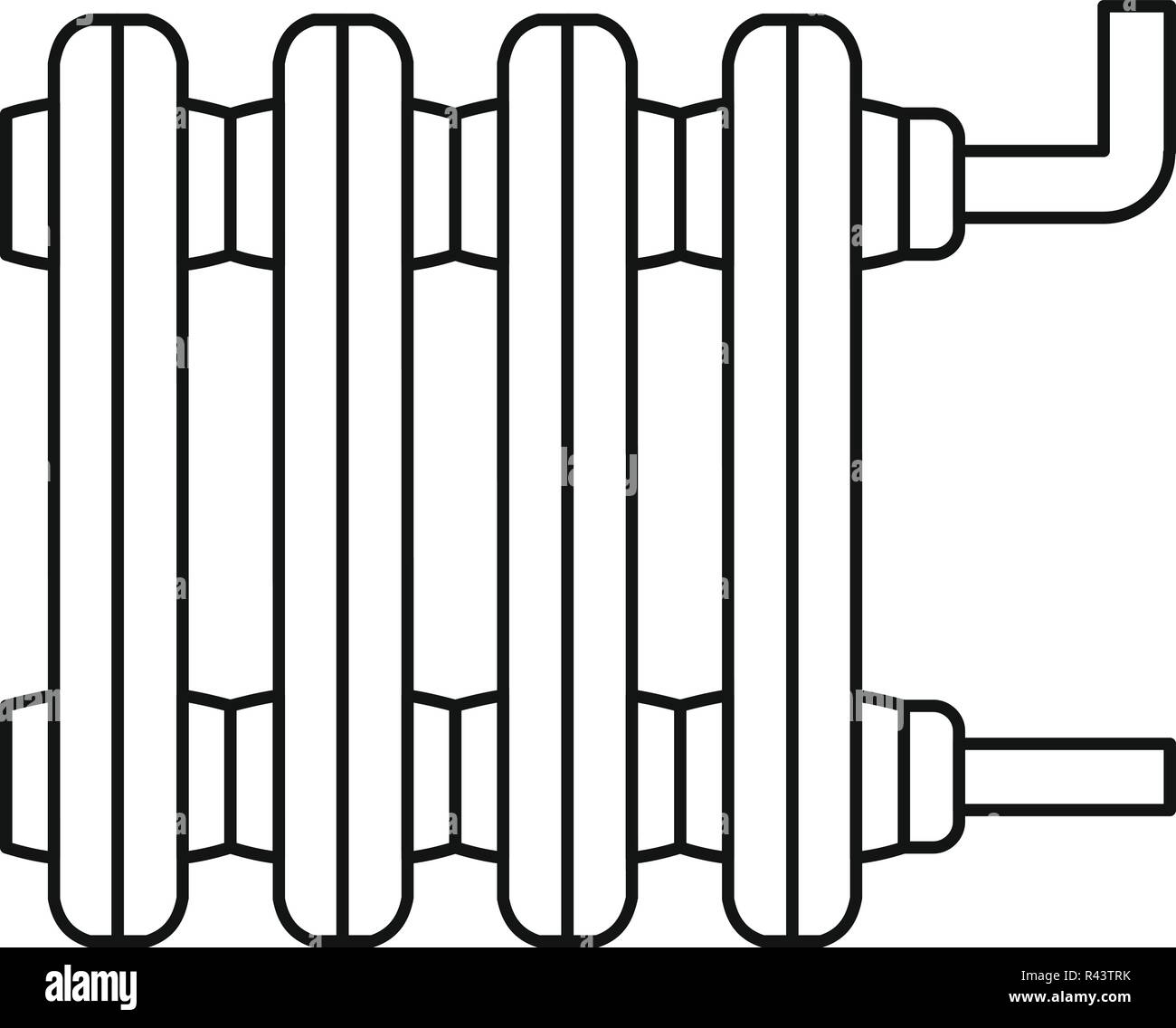 Old Home Radiator Icon Outline Illustration Of Old Home Radiator Vector Icon For Web Design Isolated On White Background Stock Vector Image Art Alamy