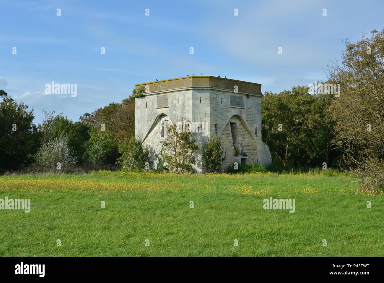 tour carree poudriere du fort louis - Stock Image
