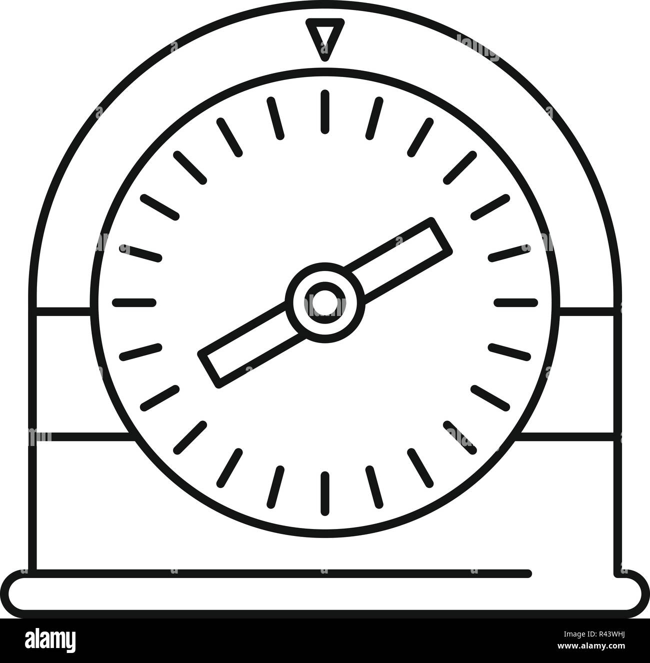 Swim clock icon. Outline illustration of swim clock vector icon for web design isolated on white background - Stock Vector