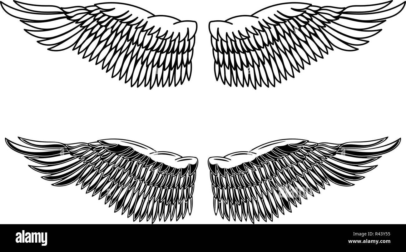 vintage style illustration of eagle wings design element for logo label emblem sign poster card vector image stock vector image art alamy https www alamy com vintage style illustration of eagle wings design element for logo label emblem sign poster card vector image image226280577 html
