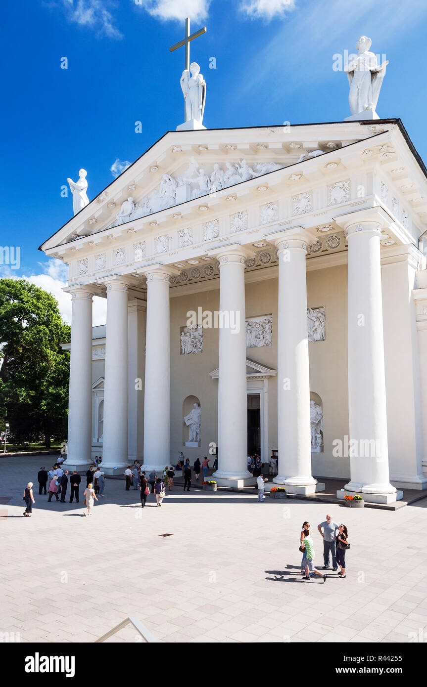Cathedral Basilica of St.Stanislaus and St.Ladislaus of Vilnius, Lithuaniania - Stock Image