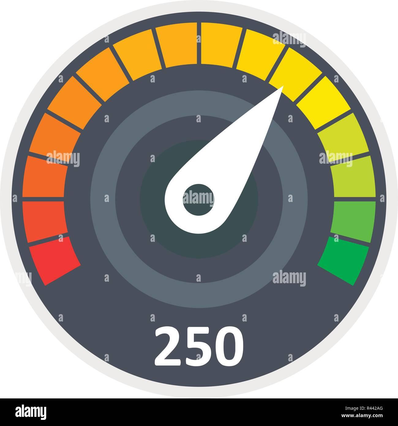 Sport car speedometer icon  Flat illustration of sport car