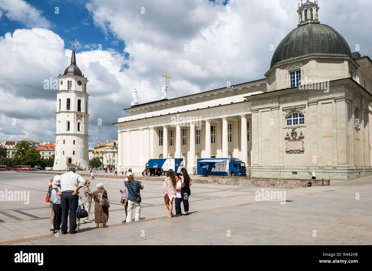 Cathedral Basilica of St.Stanislaus and St.Ladislaus of Vilnius, Lithuania - Stock Image