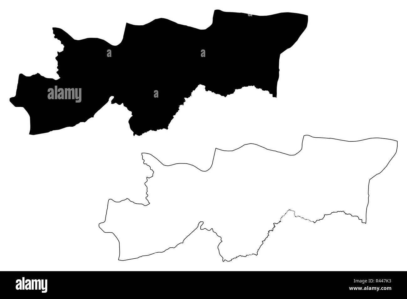 Sirnak (Provinces of the Republic of Turkey) map vector illustration, scribble sketch Sirnak ili map - Stock Image