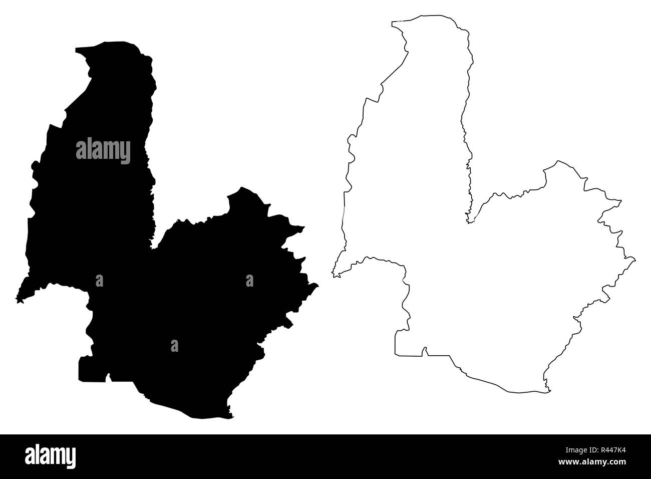 Osmaniye (Provinces of the Republic of Turkey) map vector illustration, scribble sketch Osmaniye ili map - Stock Image