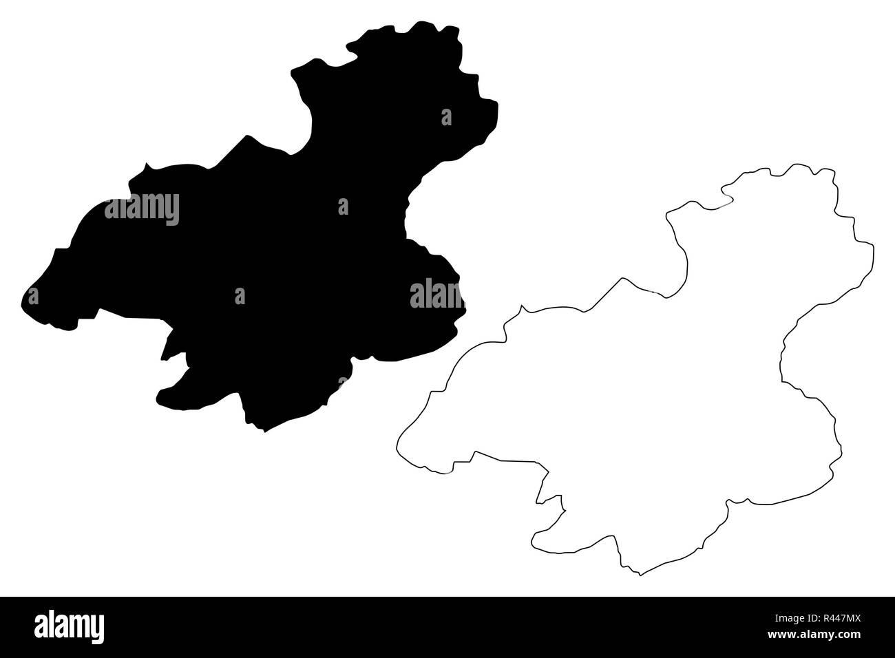 Karabuk (Provinces of the Republic of Turkey) map vector illustration, scribble sketch Karabük ili map - Stock Image