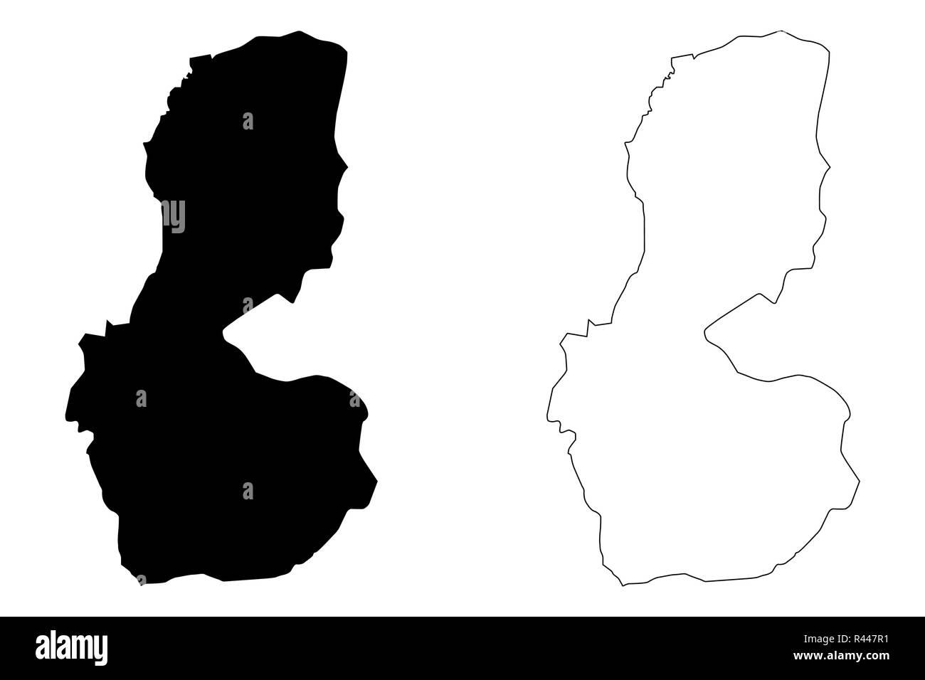 Batman (Provinces of the Republic of Turkey) map vector illustration, scribble sketch Batman ili map - Stock Image