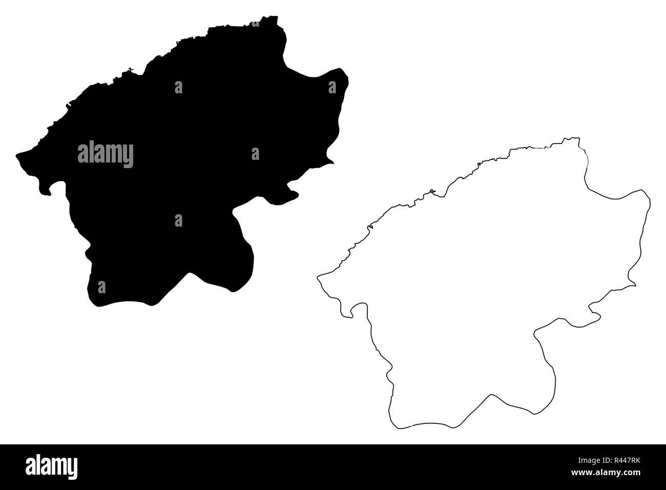 Bartin (Provinces of the Republic of Turkey) map vector illustration, scribble sketch Bartin ili map - Stock Image