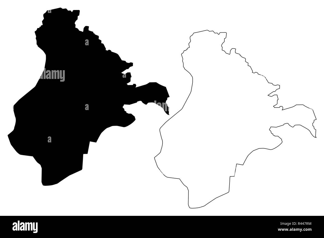 Ardahan (Provinces of the Republic of Turkey) map vector illustration, scribble sketch Ardahan ili map - Stock Image