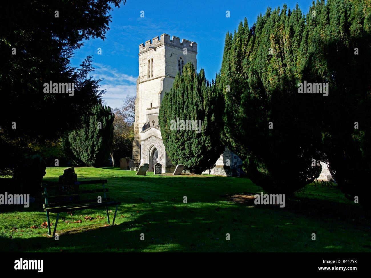 St Mary's Church, Pitstone, Buckinghamshire, England UK - Stock Image