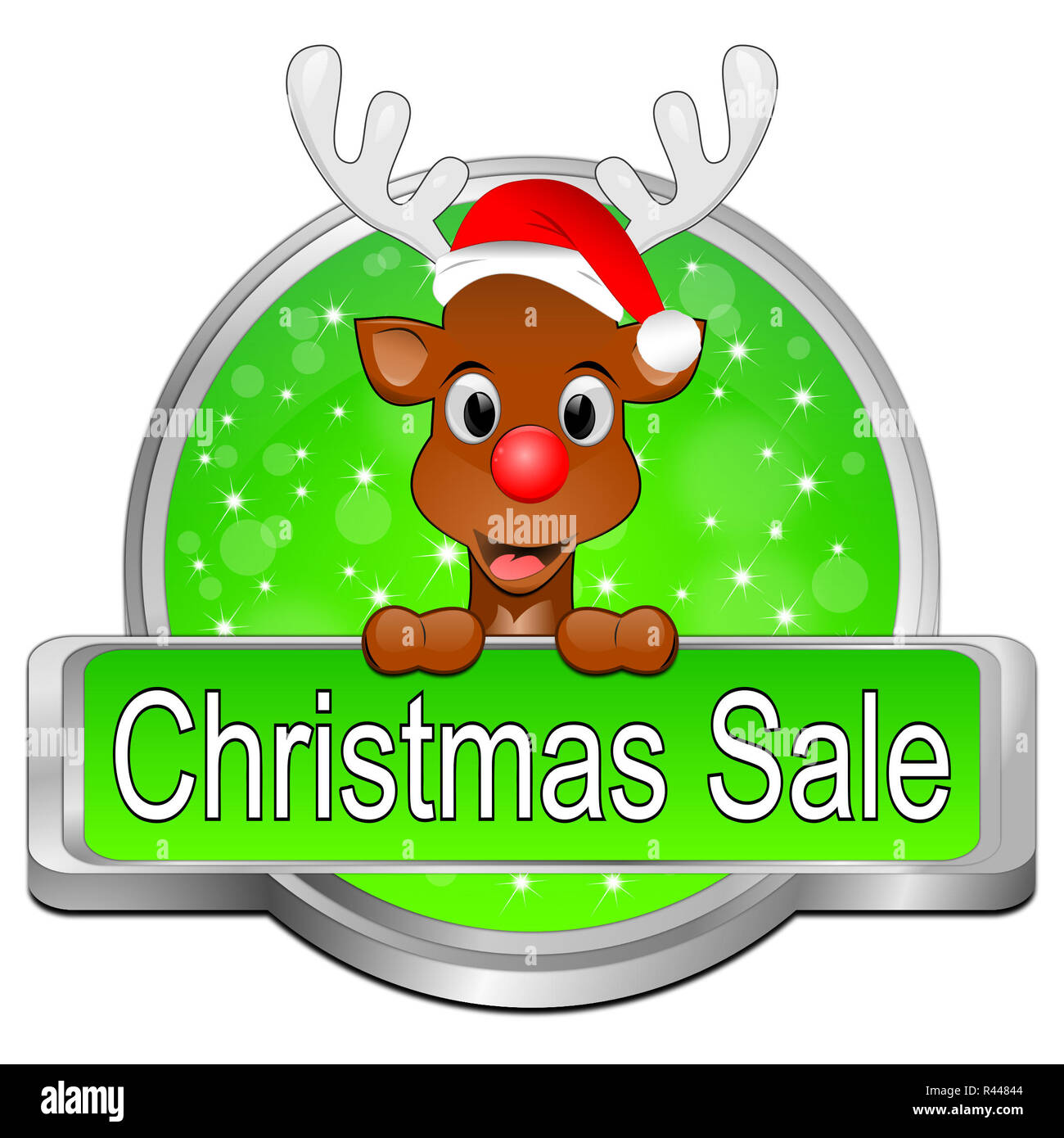 Christmas Sale button - Stock Image