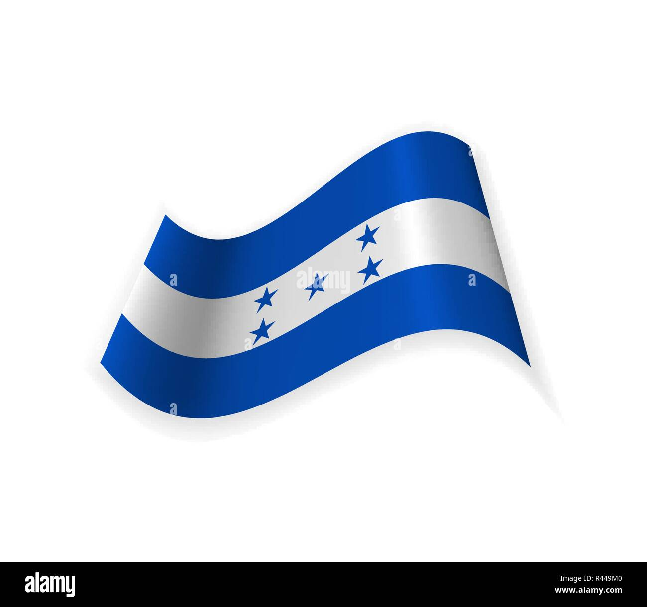 The Flag Of Honduras. Country in Central America. Vector illustration. Sign of the nation. Stock Vector