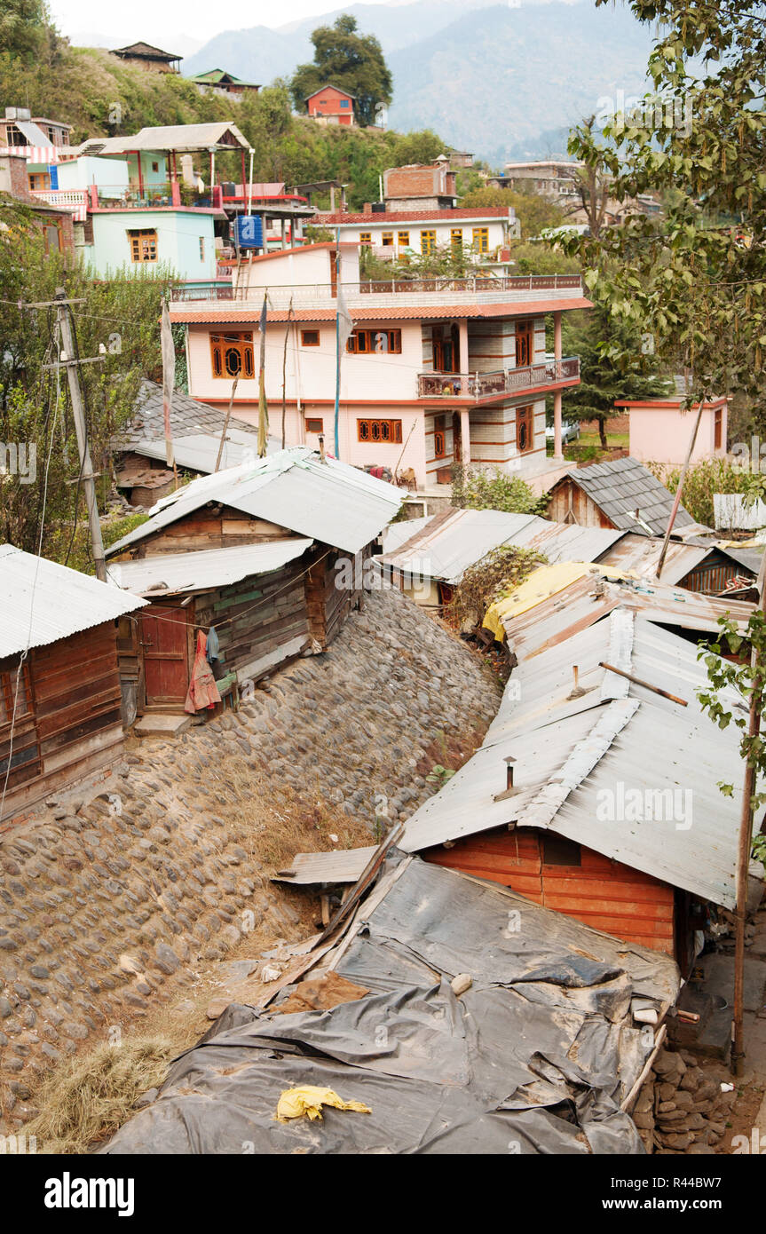 Old Manali town - Stock Image