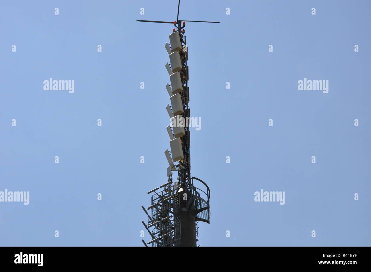 transmitter courage over merano - Stock Image