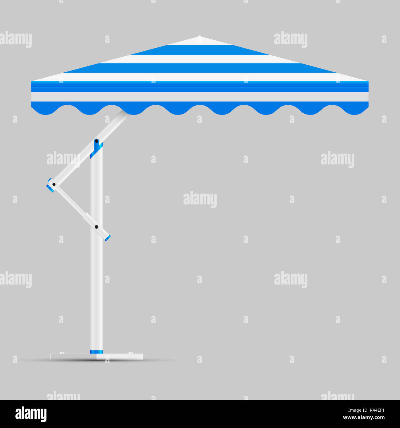 Awning Blue White Striped Stock Photos Amp Awning Blue White