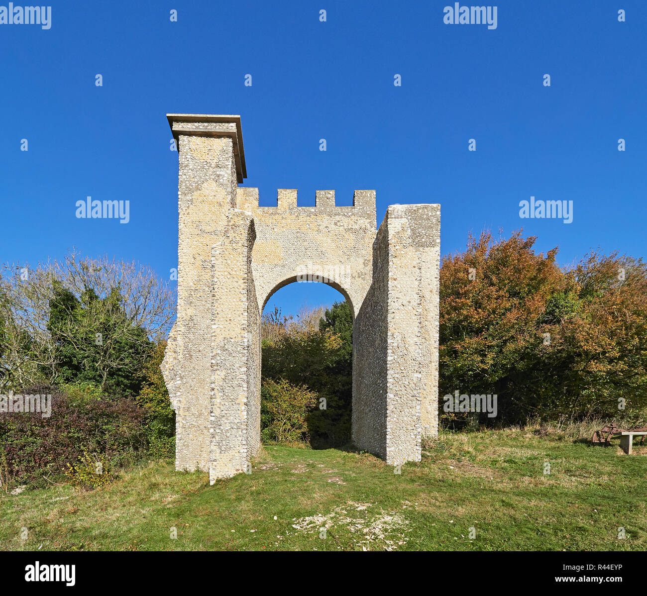 Slindon folly or Nore Folly on the Slindon estate West Sussex - Stock Image