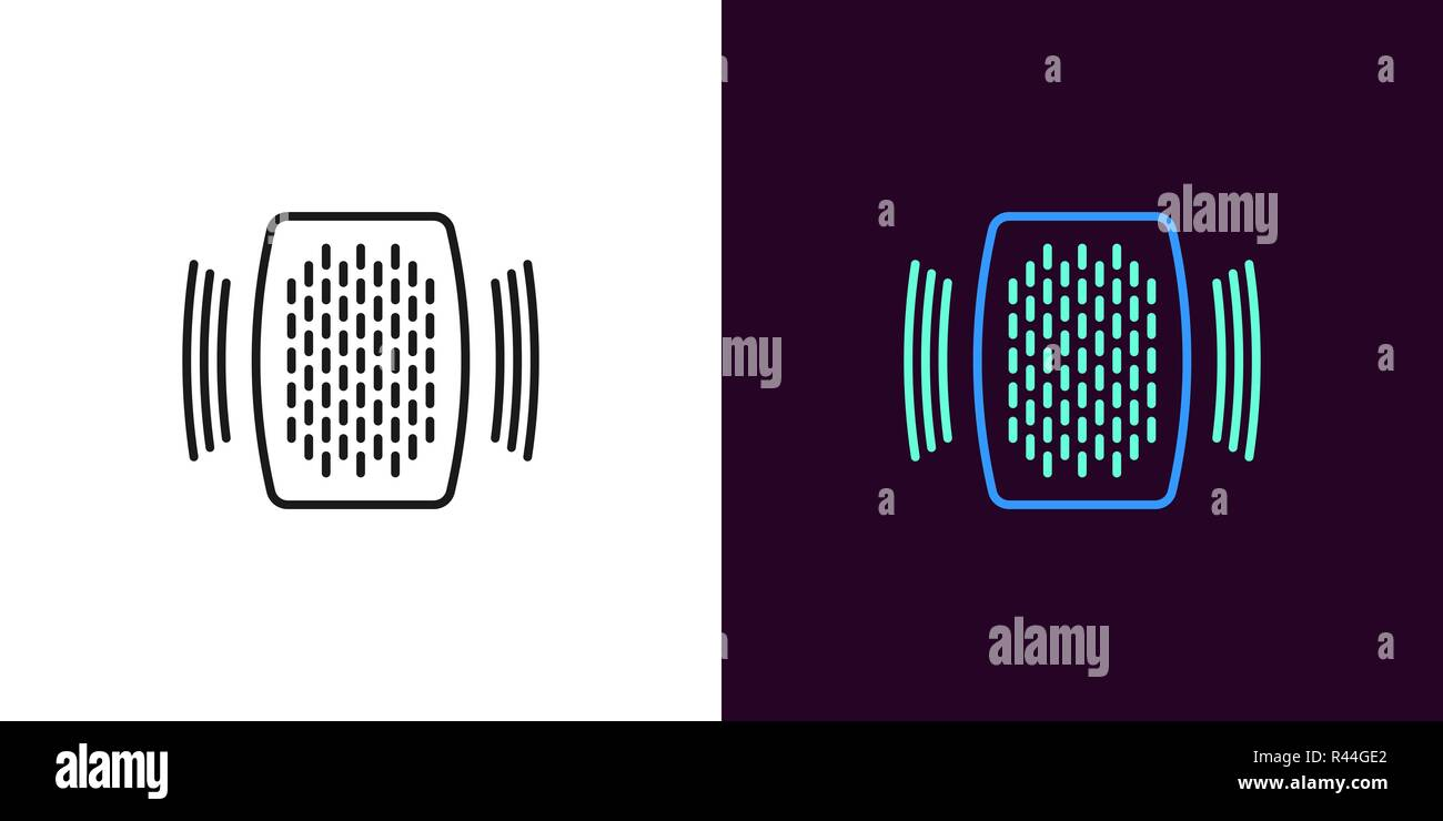 Home speaker illustration  Vector icon of Voice assistant