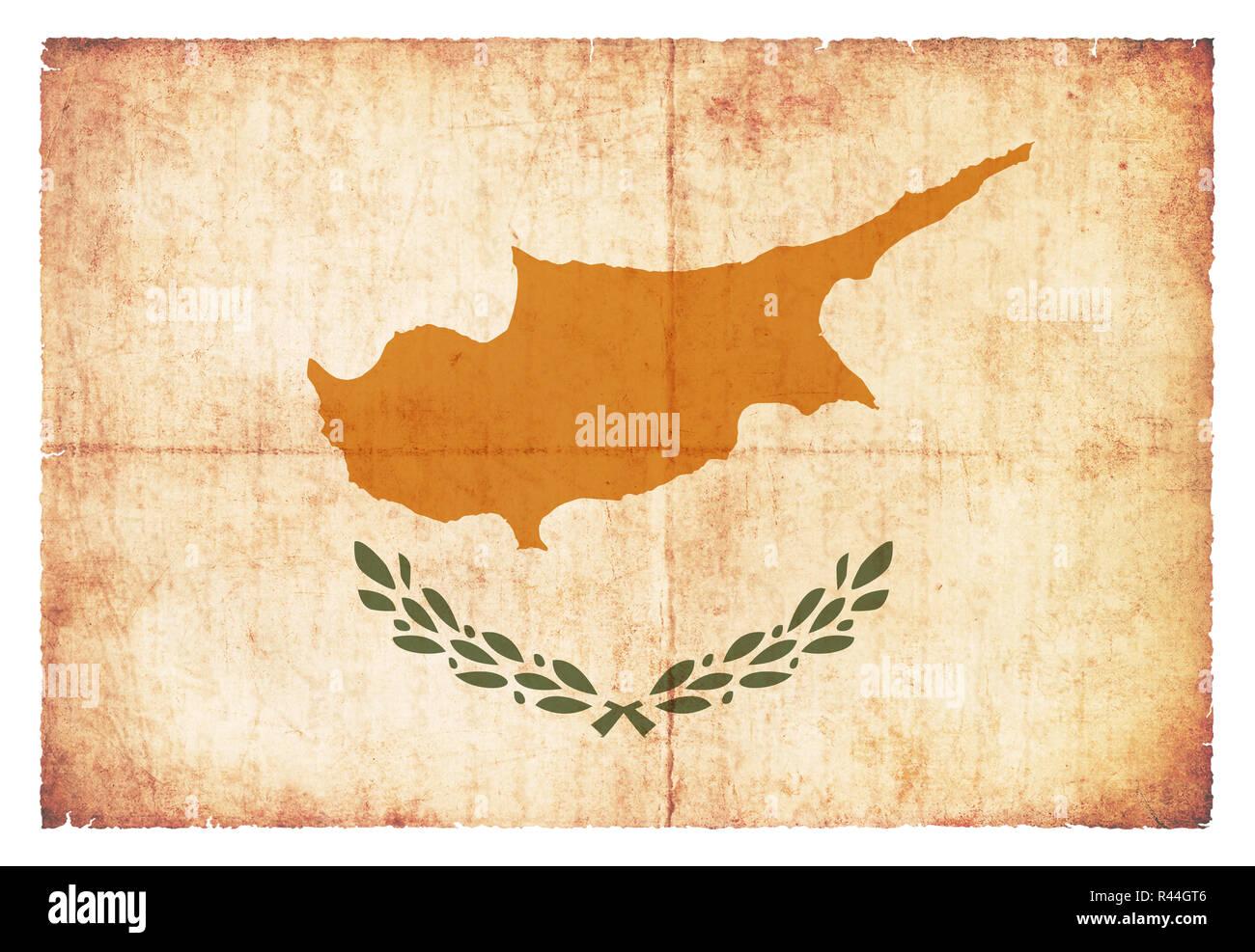 grunge flag cyprus Stock Photo
