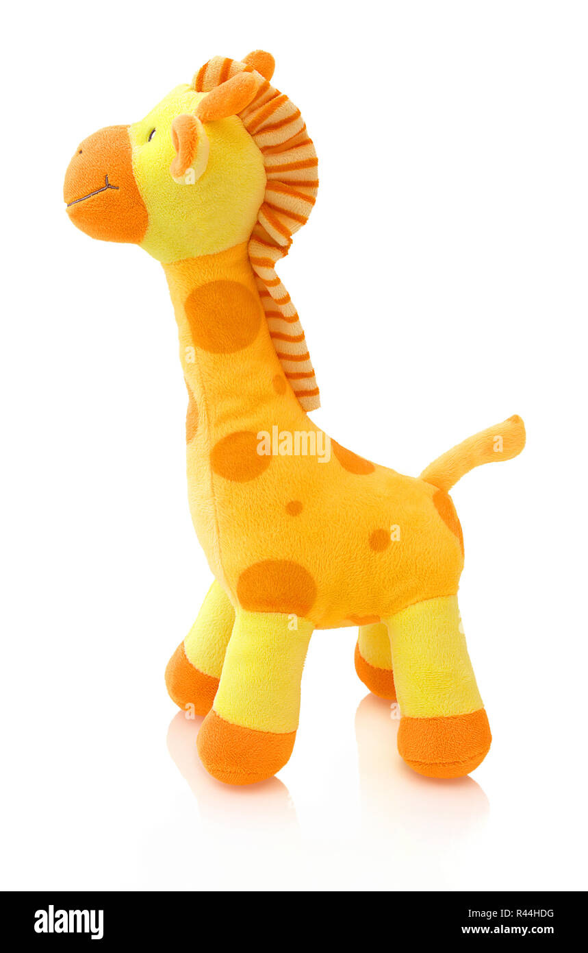 Giraffe Plushie Doll Isolated On White Background With Shadow